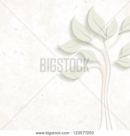 Elegant pastel environmental design on coarse paper. Graphics are grouped and in several layers for easy editing. The file can be scaled to any size.
