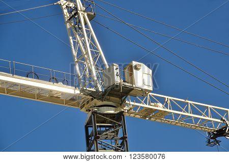 Building crane at construction site Georgia, USA