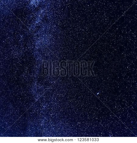 Night sky with lot of shiny stars, natural abstract astro square background with copy space