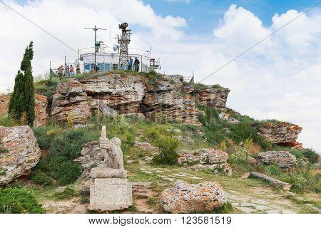 Tourists On Tip Of Kaliakra Headland, Bulgaria