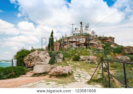 Viewpoint With Tourists On The Tip Of Kaliakra