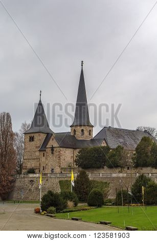St. Michael's Church in Fulda Hesse is considered to be the oldest Holy Sepulchre church in Germany built in the Carolingian architectural style