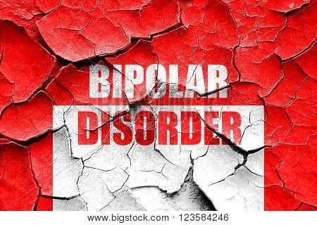 Grunge cracked Bipolar sign background with some soft smooth lines