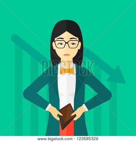 Bancrupt business woman.
