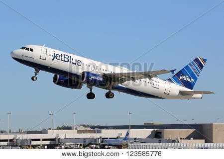 Jetblue Airbus A320 Airplane Fort Lauderdale Airport