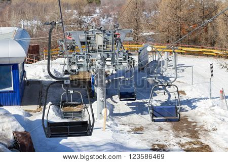 Chairlift In The Mountains