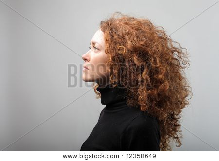 Profile of a beautiful woman