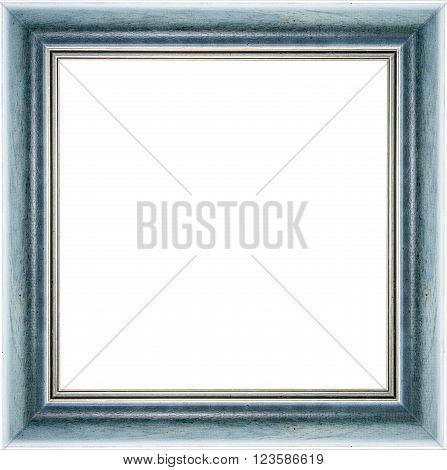 Wooden Blue Vintage Picture Frame