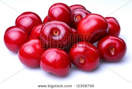 Sweet cherry; object on a white background