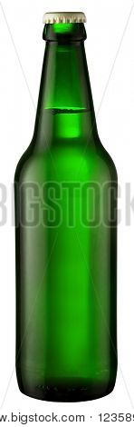 green bottle; object on a white background