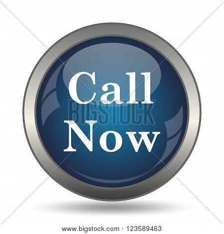 Call now icon. Internet button on white background.