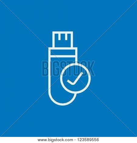 USB flash drive line icon.