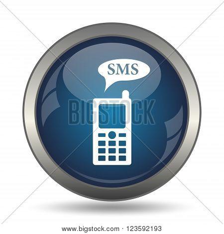SMS icon. Internet button on white background.