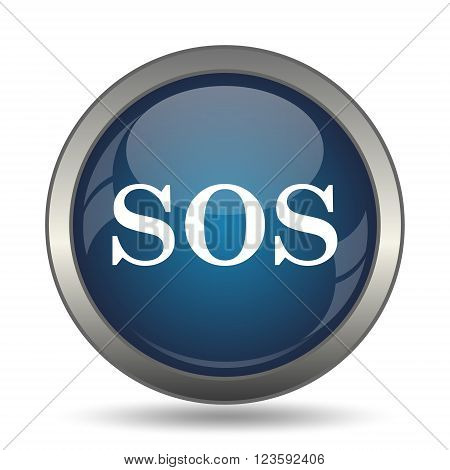 SOS icon. Internet button on white background.