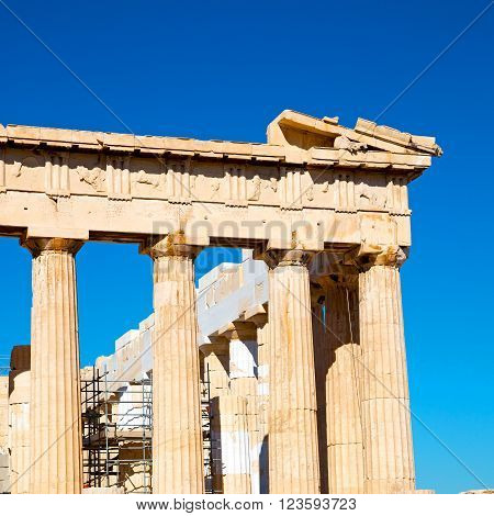Acropolis And  Historical   Athens In Greece The Old Architecture Place