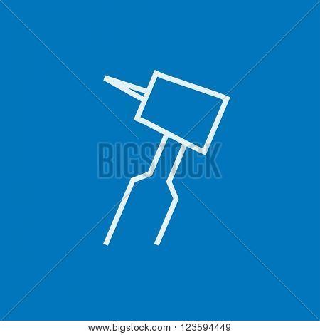 Dental drill line icon.