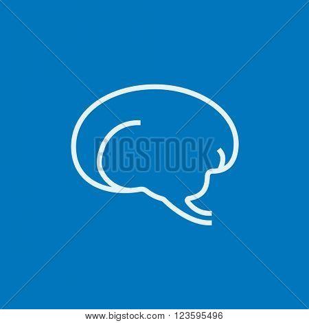 Brain line icon.
