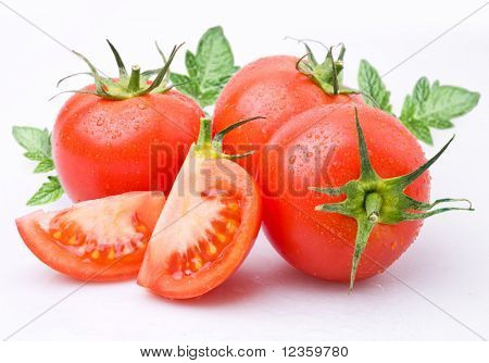 Tomatoes, object on a white background