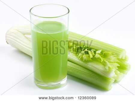 juice from the stalks of celery plants