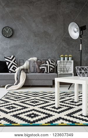Monochromatic Living Room Idea