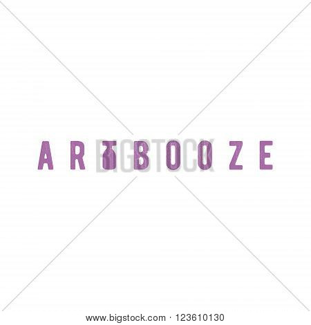 Booze Art hipster vintage style, the letter T in the form of a bottle abstract modern stylish logo design art