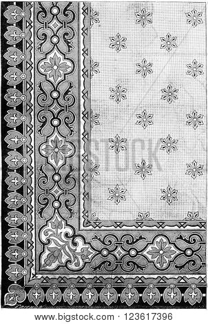 Panel model, vintage engraved illustration. Magasin Pittoresque 1880.