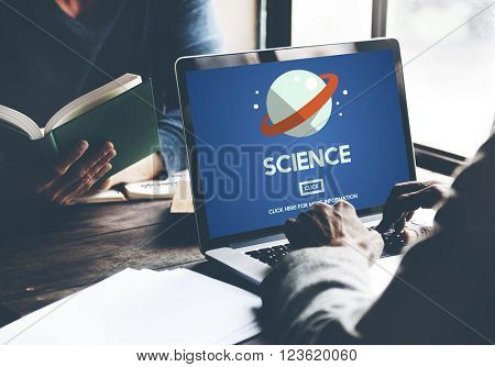 Science Chemistry Physics Biology Research Study Concept
