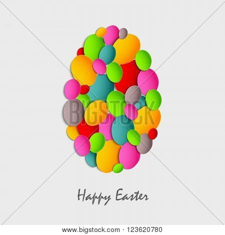 Easter card with abstract colored eggs vector eps 10