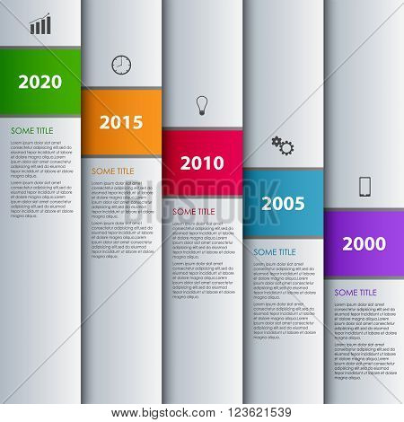 Time line info graphic with stripes design template vector eps 10