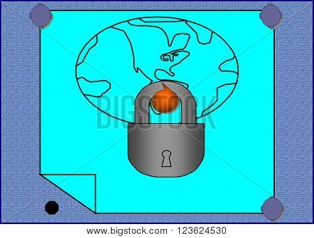 World    On the picture is represented the world to which the key isn't found yet.