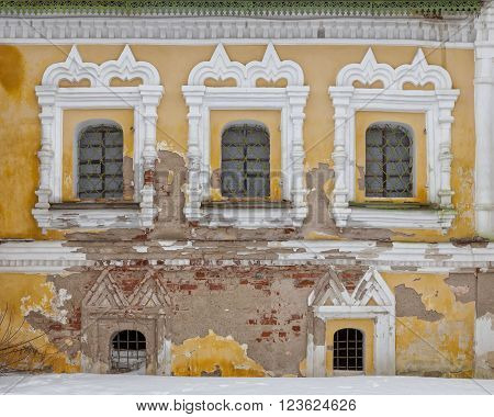 Architecture of Uglich, Russia. It is a historical town, popular touristic landmark