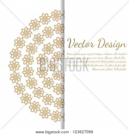 Cards or invitations with mandala pattern.Vector vintage hand-drawn highly detailed round mandala elements. Luxury lace festive ornament card. Islam, Arabic, Indian, Turkish, Ottoman, Pakistan motifs.