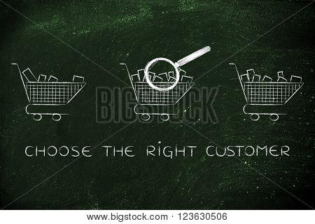 Analyzing Empty Vs Full Shopping Carts,choose The Right Customer