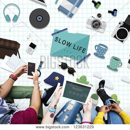 Hipster Slow Life Hobbies Leisure Concept