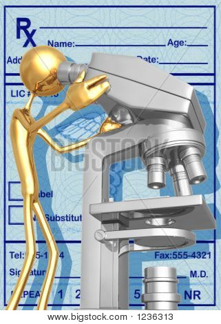 3D Medical Research Microscope Concept