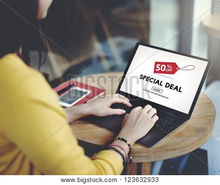Special Deal Advertising Comme?cial Marketing Concept