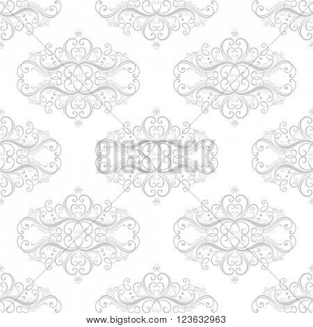 Seamless vintage floral pattern in baroque style. Element for design. Vector illustration.