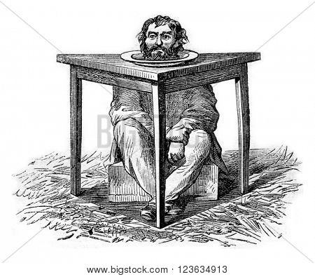 Reality, vintage engraved illustration. Magasin Pittoresque 1869.