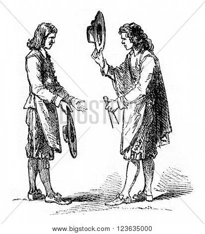 Artisans, vintage engraved illustration. Magasin Pittoresque 1869.