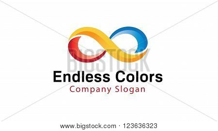 Endless Colors design symbol  art Abstract Illustration