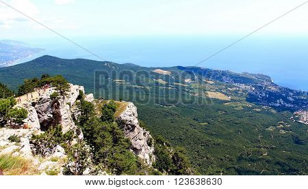 View on Yalta city from the Ai-Petri mountain on Crimean peninsula ** Note: Soft Focus at 100%, best at smaller sizes