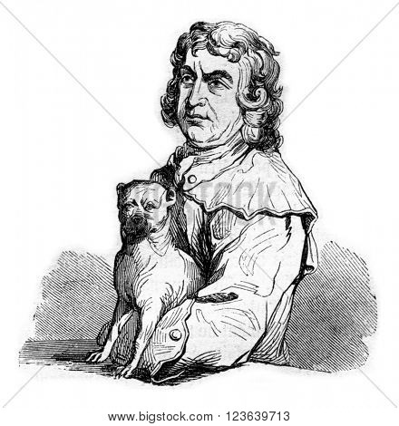 Bampfylde Moore Carew, King of the Gypsies, vintage engraved illustration. Magasin Pittoresque 1857.