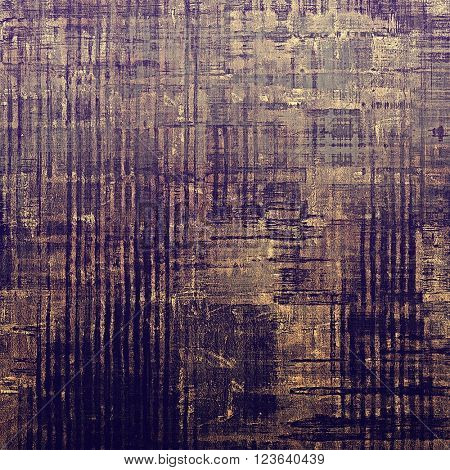 Vintage background in scrap-booking style, faded grunge texture with different color patterns: yellow (beige); brown; purple (violet); gray