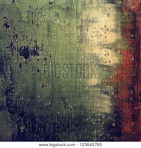 Vintage background, antique grunge backdrop or scratched texture with different color patterns: yellow (beige); brown; green; blue; red (orange)