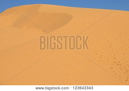 Big red sand dune. The surroundings of the village of Mui Ne, Vietnam