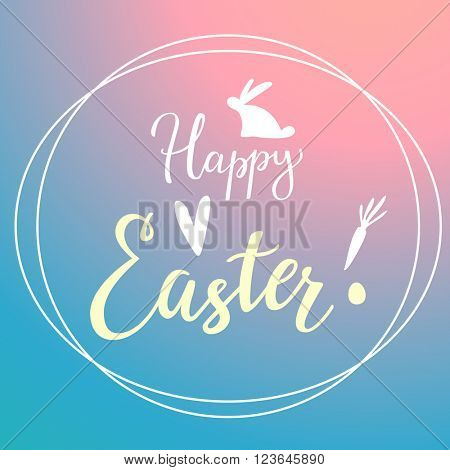 Easter Modern Gradient Background With Typography