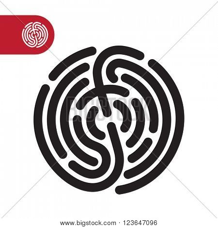 Fingerprint logo. Fingerprint security system. Vector fingerprint illustration.