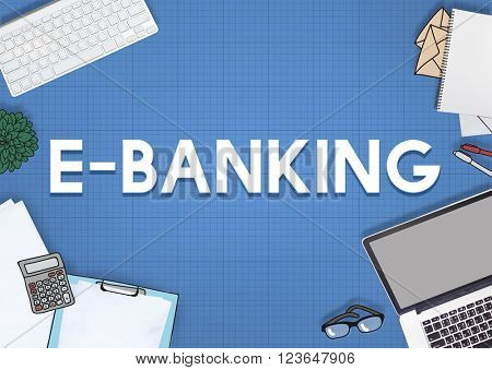 E-Banking Online Banking Commerce Network Concept