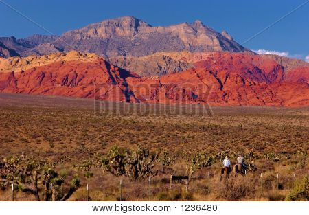 Riding Into The Sunset, Red Rock, Las Vegas, Nevada.