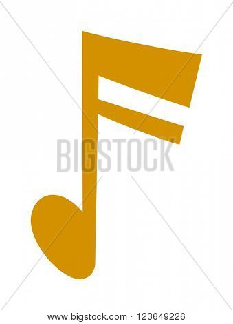 Vector gold icons set music note melody symbols vector illustration.